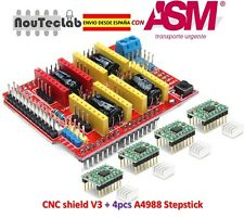 CNC Shield V3 Expansion Board + 4pcs A4988 Stepper Motor Driver