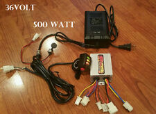 36V 500W Scooter Controller,Throttle,Charger & Port kit ebike Brushed Motor Only