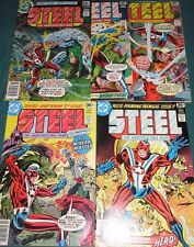 STEEL THE INDESTRUCTIBLE MAN #1-5 Full Set! His First Appearance! 1975 DC