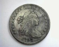 1797 Draped Bust Silver Dollar Near Choice Au Large Letters Scarce This Nice!