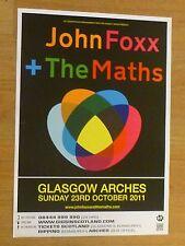 John Foxx + The Maths - Glasgow oct.2011 tour concert gig poster