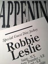 Vintage Gay Party Poster / Happenings- San Jose California / Robbie Leslie DJ