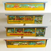 Vintage Vinal Garage Themed Die Cast Car Case Holder See Images