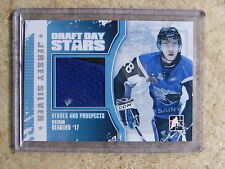10-11 ITG Heroes & Prospects H&P Draft Day Stars NATHAN BEAULIEU Jersey Silv /19