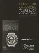 AUDEMARS PIGUET tourbillon chronograph Watch Print Ad