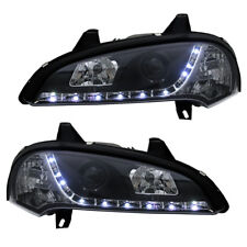 Scheinwerfer für Opel Tigra A Bj. 94-00 Schwarz LED TFL Tagfahrlicht Optik