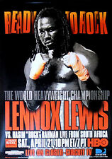 Vintage Original Lennox Lewis vs. Hasim Rahman Boxing Fight Poster