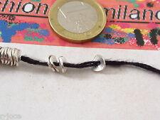 25 dischetti leggermente piegati in ottone placcato argento di 6x1 mm