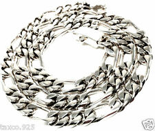 Unisex Chain Link Necklace Mexico Taxco Mexican 925 Sterling Silver Men'S
