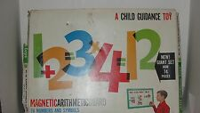 VINTAGE CHILD GUIDANCE MAGNETIC ARITHMETIC BOARD