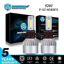 IRONWALLS 5202 2000W LED Headlight Bulbs Fog Lights Conversion Turbo Kit 6000K
