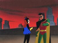 Batman Animated Series Original Production Cel/OBG-Bat Girl+Robin-Old Wounds