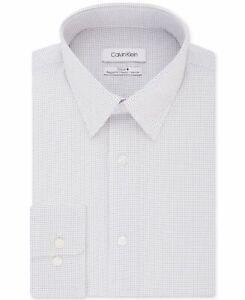 Calvin Klein Mens Dress Shirt Purple Size 14 1/2 Micro Dot Regular $79- #250