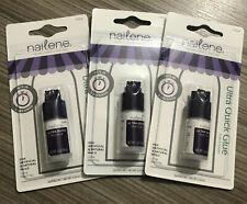 3 x Nailene Ultra-Quick Nail Glue Clear 3g