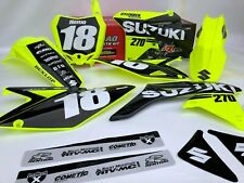 Suzuki 270 Neon Graphics Plastics Kit RMZ 250 450 2017 2018 2019 All Years