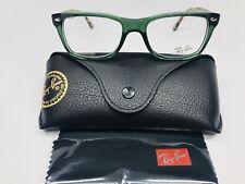 New Ray Ban RB 5228 5630 Transparent Green & Camo Eyeglasses 50mm w/Case & Cloth