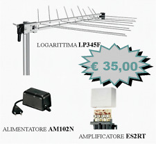 KIT FRACARRO ANTENNA LP345F + AMPLIFICATORE ES2RT + ALIMENTATORE AM201N