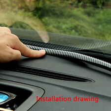 1.6M Carbon Fiber Car Dashboard Windshield Gap Sealing Strips Rubber Accessories