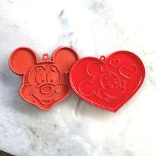 New listing 2 vintage Hallmark Walt Disney Mickey Mouse Valentine heart cookie cutters