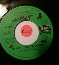 "CLIFF RICHARD We Don't Talk Anymore / Count Me Out PROMO 45 RPM 7"" Vinyl Record"