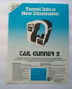 Exidy Tail Gunner 2 Magazine Trade AD Retro Gaming Vintage 1980 Cockpit Sit Down