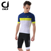 CHEJI Retro Cycling Set Coolmax Men's Cycle Jersey Top Spandex Shorts Padded Kit