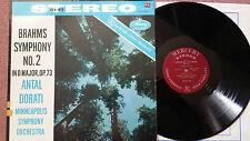 SR 90171 ANTAL DORATI, MINNEAPOLIS SYMPHONY – BRAHMS SYM. NO.2 – MERCURY LP