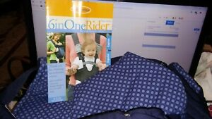 👀💲Infantino Infinity Baby Carrier 6n1 Rider Convertible Navy Blue Polka Dots