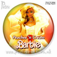 PEACHES 'N CREAM BARBIE ~ Retro Toy Badge/Magnet [45mm]