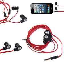 In-Ear Earbud Earphone Headset Headphone 3.5mm For iPhone iPod Samsung MP3 red