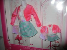 NRFB 1996 Barbie & Kelly Fashion Avenue Matchin' Styles Pink Jacket Plaid Skirt