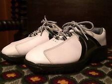 Footjoy Junior Size 5M Unisex Golf Shoes Guy Girl White Black SoftSpikes