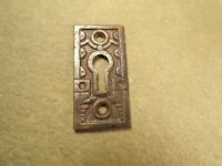Antique / Vintage Cast Iron Eastlake / Victorian Keyhole Cover Escutcheon Plate