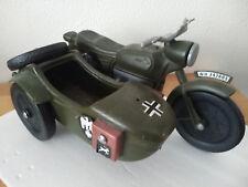 ancien jouet plastique moto side military ALLEMAND Cherilea 40cm Made in England