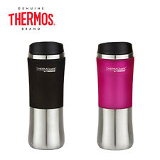 THERMOS Stainless Steel Travel Tumbler Plastic Outside Sleeve 300ml Black Pink