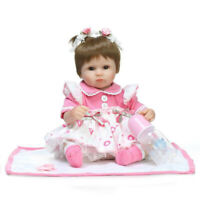 Soft Body Handmade Lifelike Reborn Babies Doll Silicone Girl Dolls Xmas Gift