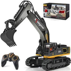 Remote Control Excavator Toy Truck, 1/18 Scale RC Excavator Construction Vehicle