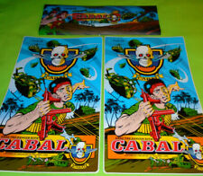 """Original """"Cabal"""" Arcade Marquee & Side Art Package (1988) Classic!!"""