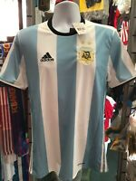 Adidas Argentina Home soccer jersey White-Blue 2016 Size S Men's Only