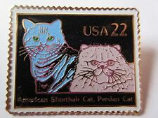 1987 #2375 22c Persian American Shorthair Cat Stamp Pin Usps Post Office New