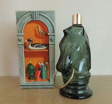 Vintage Avon Pony Decanter Empty Green Glass Original Box Wild Country After Sh.