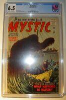 Mystic #59 CGC 6.5 FN+ 1957, Bill Everett cover, Krigstein, Pakula, Roussos art