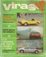 VIRAGE AUTO 1973 2 DE TOMASO PANTERA GTS LAMBORGHINI URACCO P250 MASERATI BORA