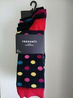 Tresanti 5 Pack Cotton Socks UK 9-11 Coloured Spots, Patterned, Plain RRP £34.95
