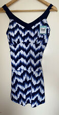 New listing Blue And White Tu Swim Suit Size M