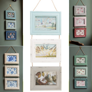 Sass & Belle Natural Wood Triple Photo Picture Delilah Frames Home Gifts Deco