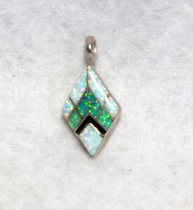 Opal Geometric Custom Silver Pendant ~