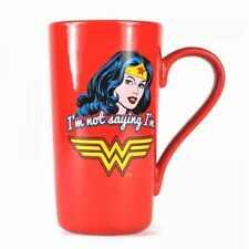 NEW DC COMICS WONDER WOMAN IAM NOT SAYING LATTE COFFEE MUG CUP NEW IN GIFT BOX