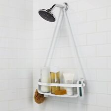 Umbra FLEX SINGLE SHELF CADDY Hanging Shower Organiser Tidy WHITE