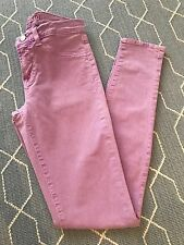 J Brand Jeans Women's Mid Rise Skinny Pant Neon Purple/Pink Color Size 25 $184